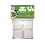 Антивибрационные подставки Eco&clean в пакете, белые квадратные AVS-001